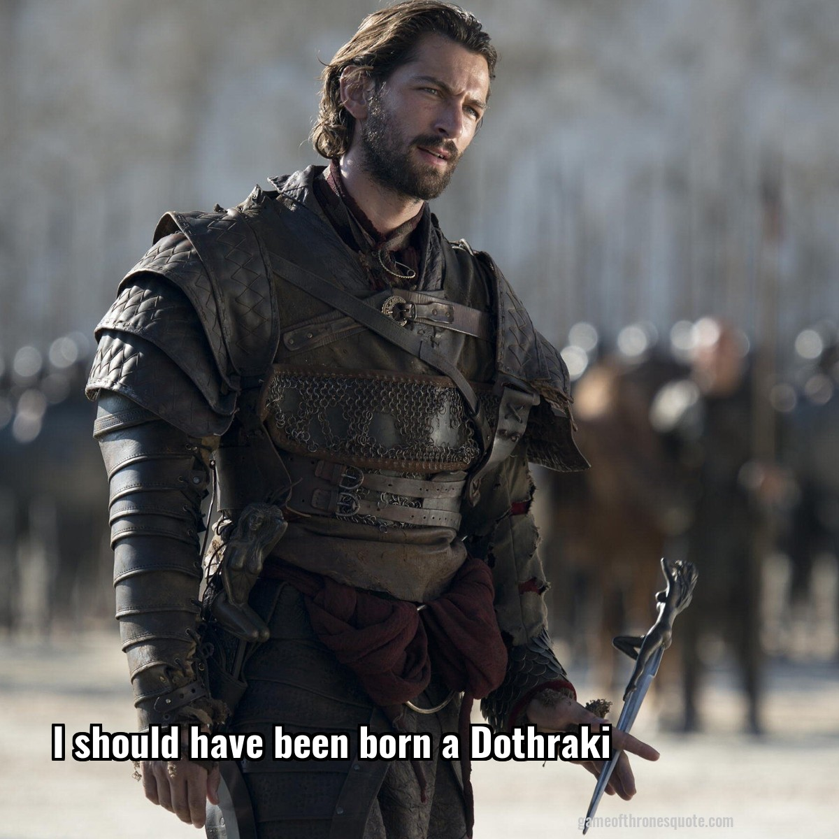 Daario Naharis: I should have been born a Dothraki | Game ... Daario Naharis Arakh
