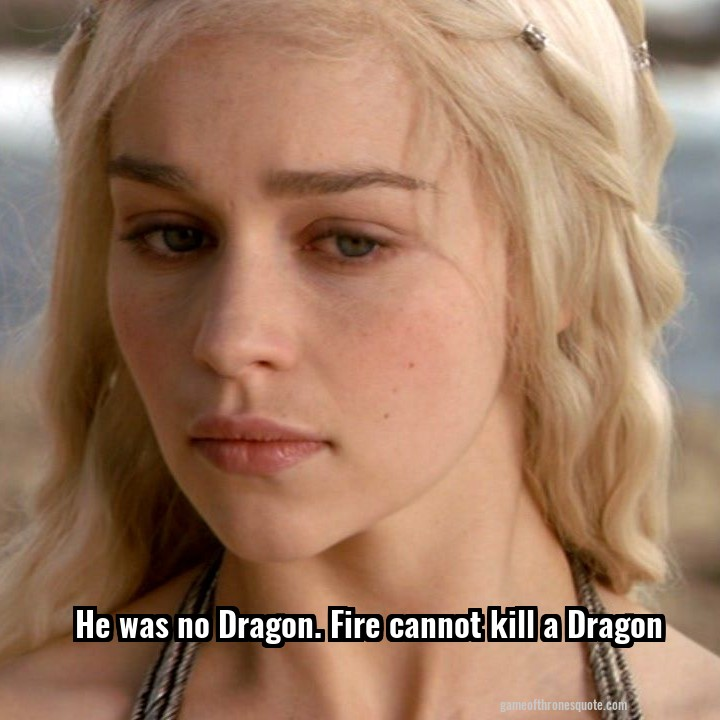 He was no Dragon. Fire cannot kill a Dragon
