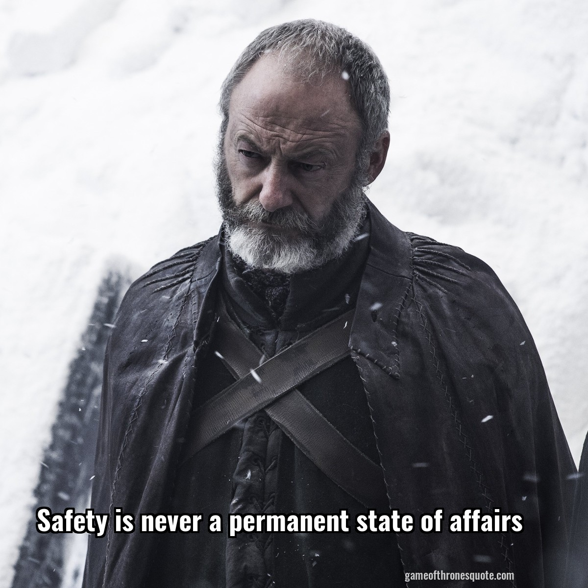 Safety is never a permanent state of affairs