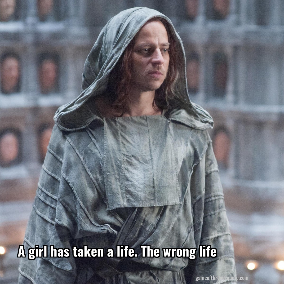 Jaqen Hghar A Girl Has Taken A Life The Wrong Life Game Of