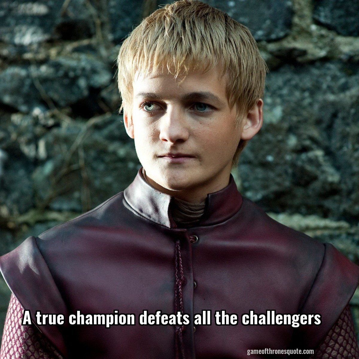 A true champion defeats all the challengers