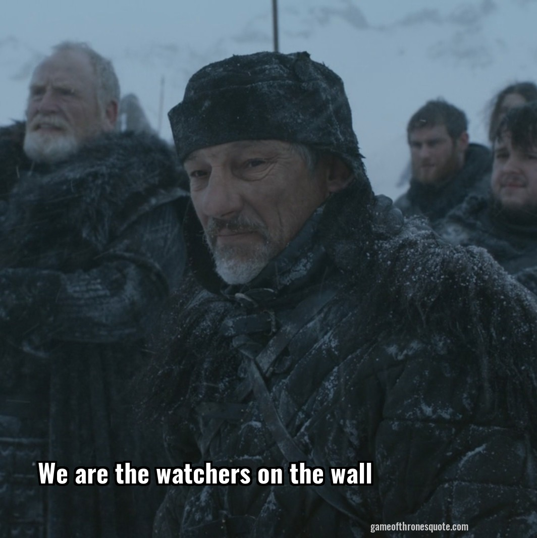 We are the watchers on the wall